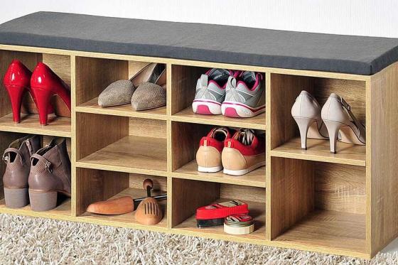 Schuhschrank   - 2 variabel einteilbare Fächer