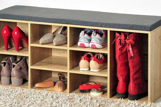 Schuhschrank   - 2 variabel einteilbare Fächer 1