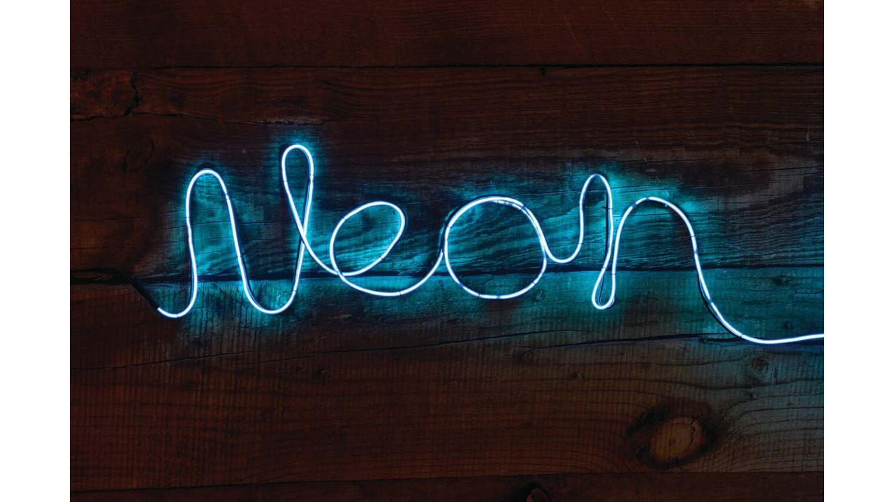 Neon leuchtschrift blau - Leuchtschrift wand ...