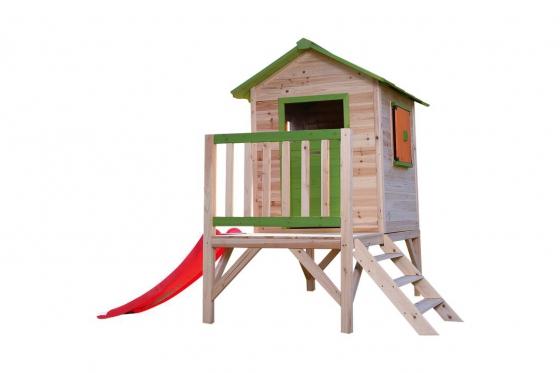 Holz Spielhaus Sliding Paradise - von happytoys 1