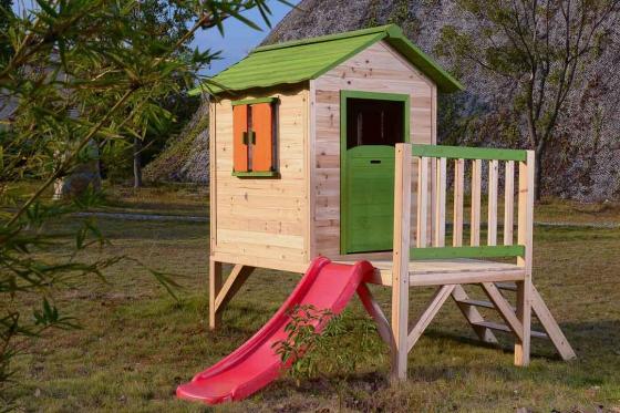 Holz Spielhaus Sliding Paradise - von happytoys 2