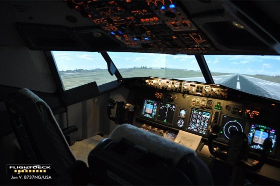 Rundflug im Simulator - 90 min Airbus 380 Cockpit in Zürich 4 [article_picture_small]