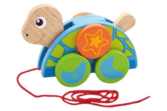 Zieh-Schildkröte   - aus Holz