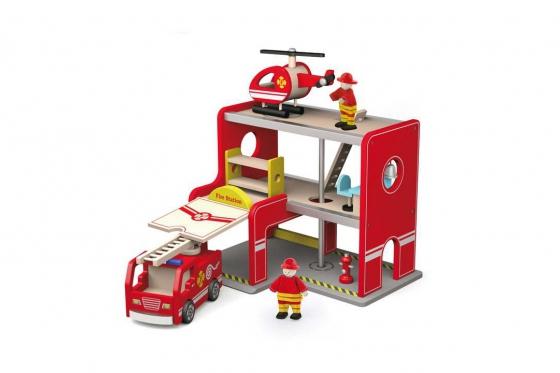 Feuerwehrstation   - aus Holz