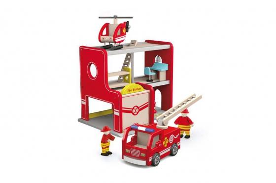 Feuerwehrstation   - aus Holz 1