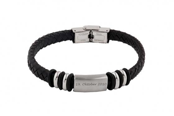 Bracelet en cuir Leandro   - personnalisable 1