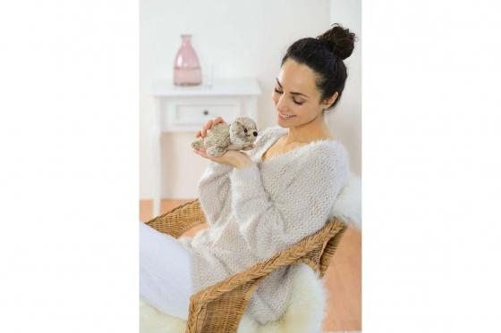 Wärmestofftier Robbe Mini   - mit Hirse-Lavendel-Füllung 1