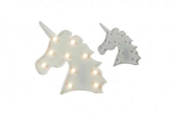 Einhorn-Kopf mit LED-Funktion - 32x20 cm 1