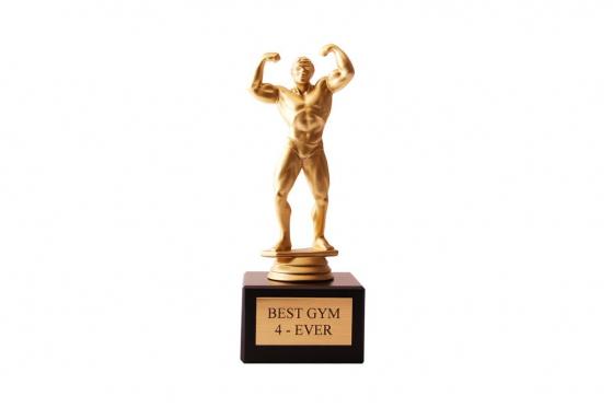 Bodybuilder Statue - mit Gravur