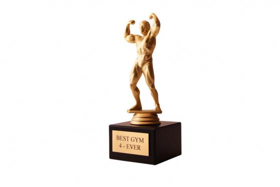 Bodybuilder Statue - mit Gravur 1
