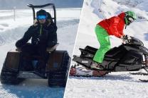 Snowmobile und Ziesel - Fahrspass in Engelberg für 2 Personen
