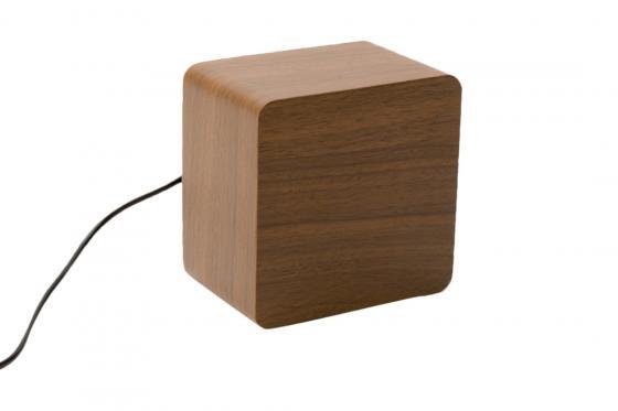 Réveil LED en bois - The Bright braun 1
