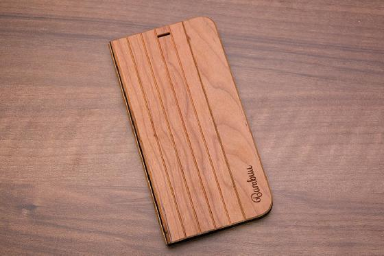 iPhone X Flip Case - Kirschenholz
