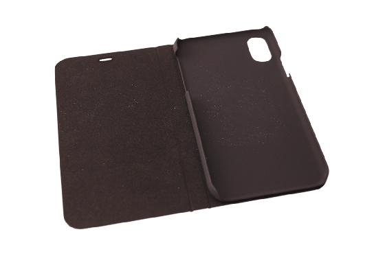 iPhone X Flip Case - Kirschenholz 2