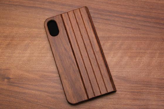 iPhone X Flip Case - Walnuss 1