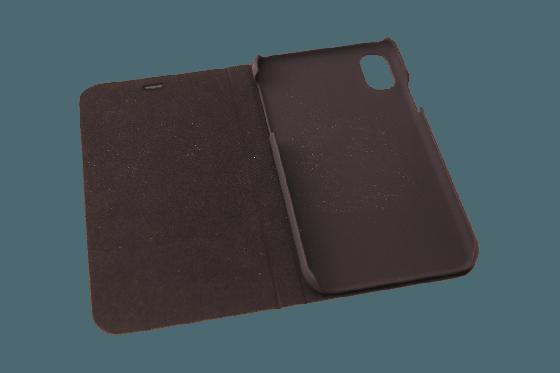 iPhone X Flip Case - Walnuss 2