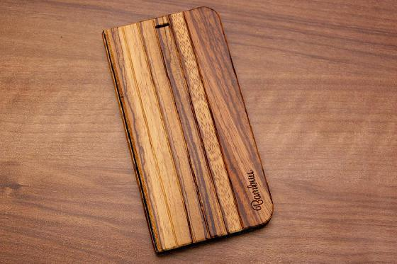 iPhone X Flip Case - Zebraholz