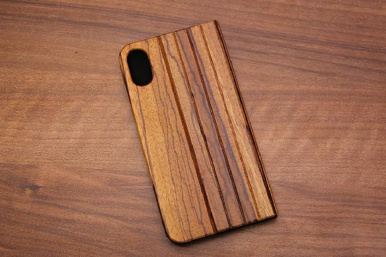 iPhone X Flip Case - Zebraholz 1