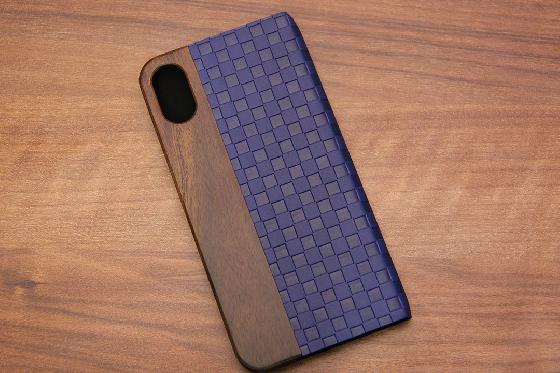 iPhone X Flip Case - Padouk Blue 1