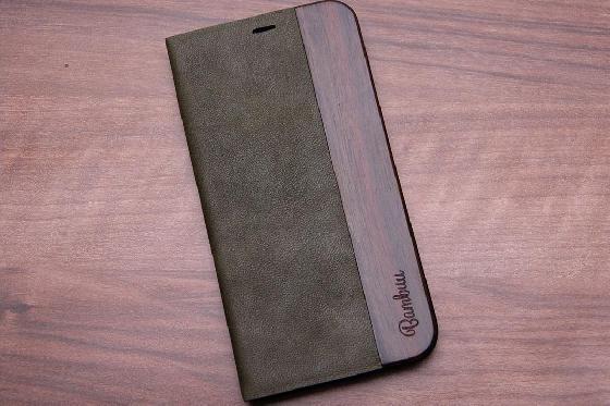 iPhone X Flip Case - Padouk Green