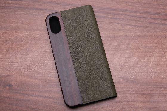 iPhone X Flip Case - Padouk Green 1