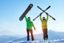 Hors-piste en neige profonde - Ski et snowboard