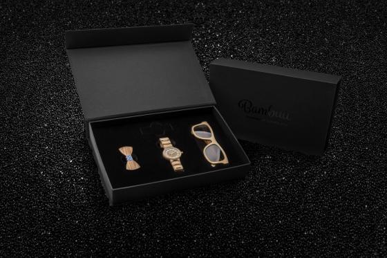 Geschenkbox Ladies Bambuu - inkl. Uhr, Sonnenbrille & Haargummi 1