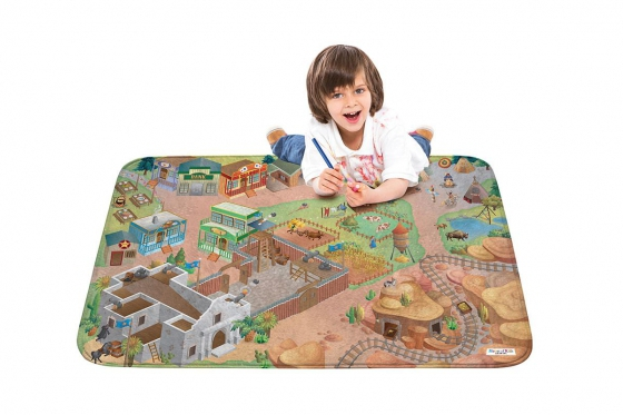 Spielteppich Western - 100 x 150 cm 1