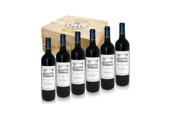 Weinkiste 6 Flaschen Bordeaux - mit Gravur