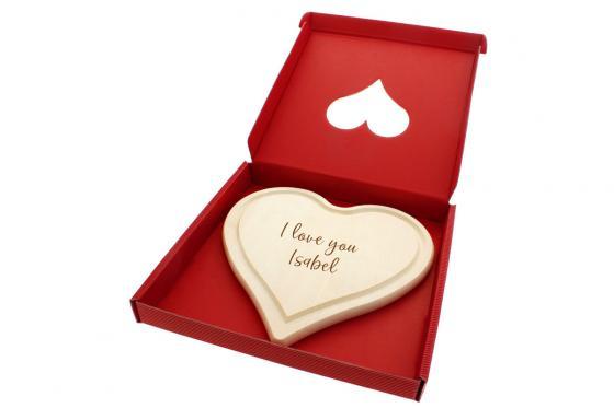 Planchette en forme de coeur - avec gravure 1