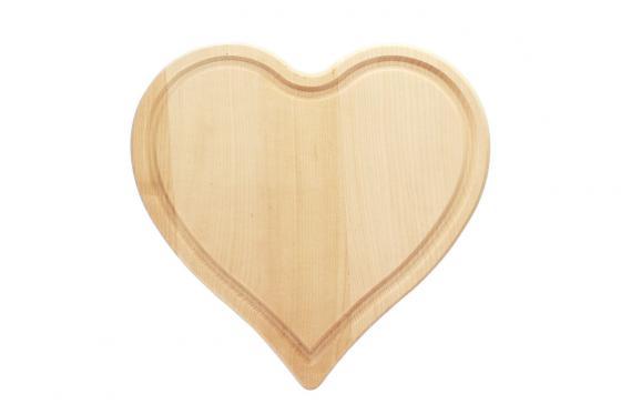 Planchette en forme de coeur - avec gravure 2