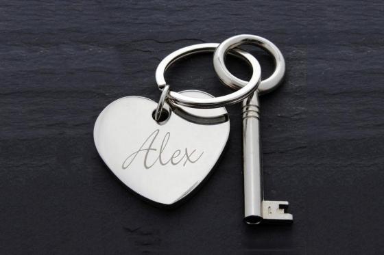 La clé du coeur - avec gravure