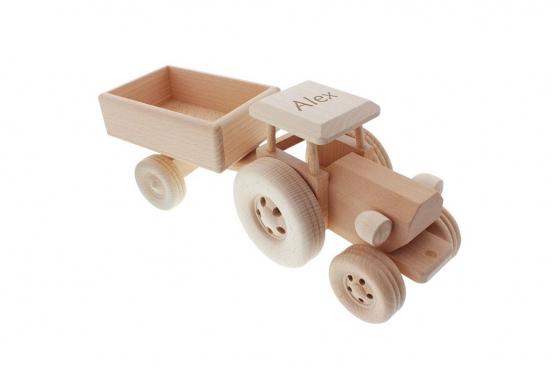 Tracteur avec remorque - avec gravure