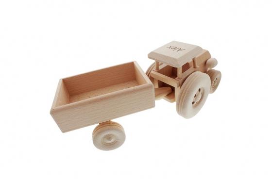Tracteur avec remorque - avec gravure 1