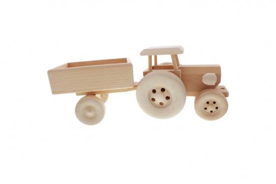 Tracteur avec remorque - avec gravure 3