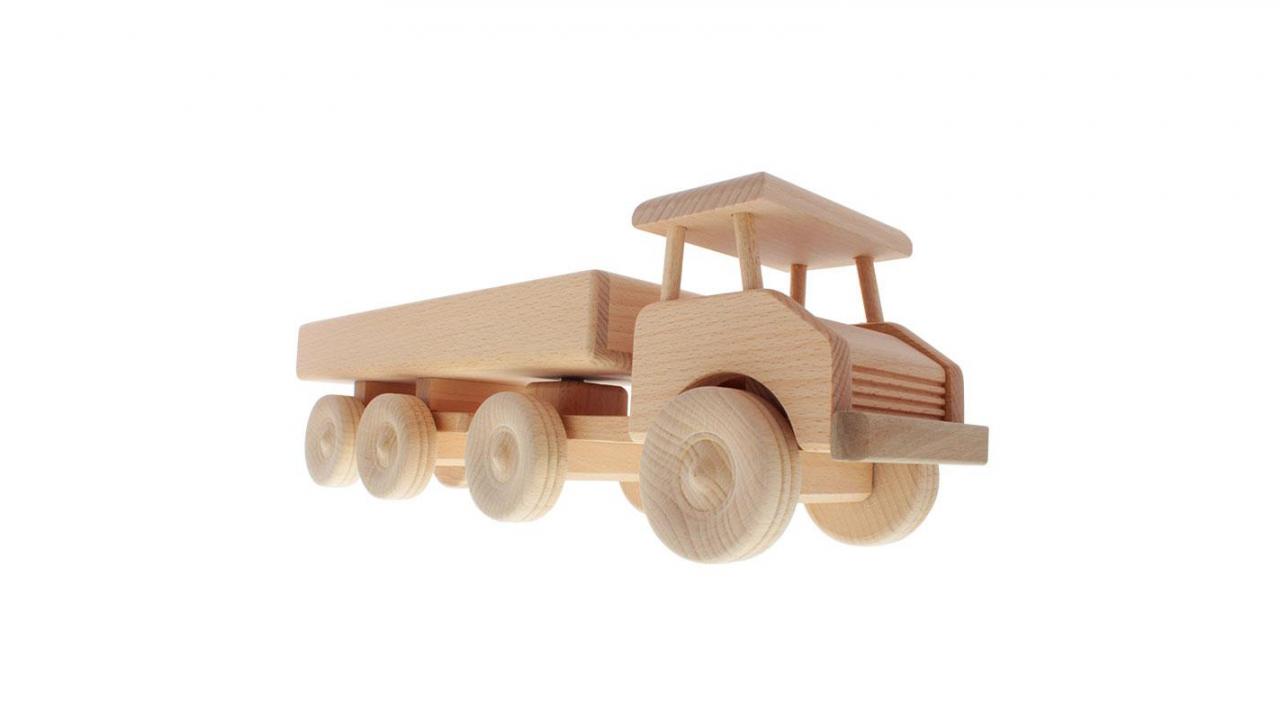 Sattelschlepper Aus Holz Personalisierbar Personalisiert