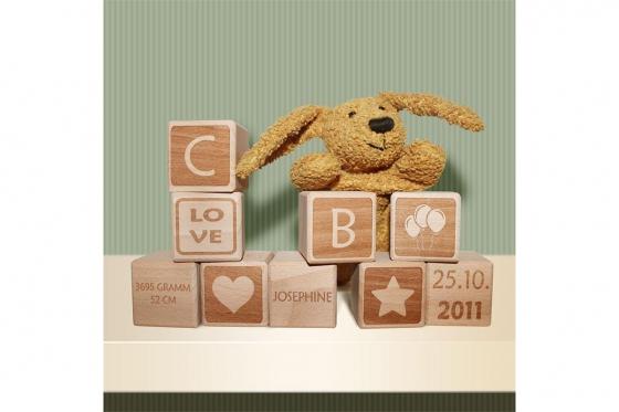 Baby-Holzwürfel - personalisierbar 6