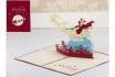 Geschenkkarte - Kirigami Weihnachtsmann auf der Stadt        1 [article_picture_small]