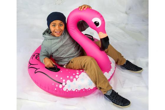 Flamant rose Snow Tube - Longueur 1 m