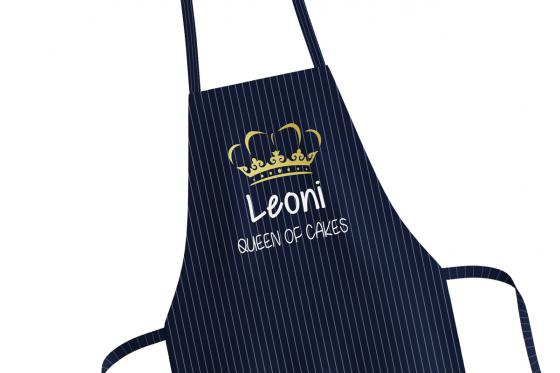 Kochschürze Queen of cakes - personalisierbar