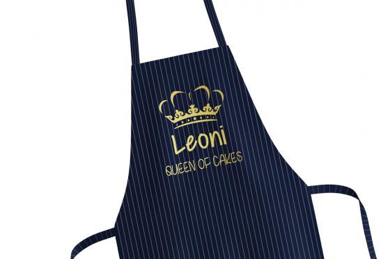 Kochschürze Queen of cakes - personalisierbar 2