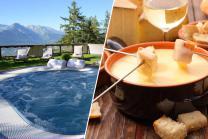 Séjour gourmand à Veysonnaz - nuitée, accès à l'espace wellness et fondue au fromage