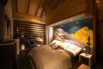 Übernachtung im Chalet -  Für 2 Personen mit 1h privater Whirlpool / Nebensaison