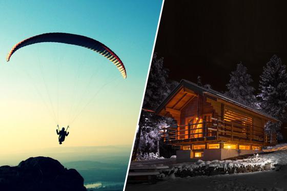 Séjour avec vol en parapente  - Nuit en chalet pour 2 avec repas et petit déjeuner - SOLO  [article_picture_small]