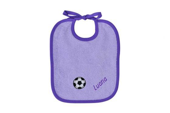 Baby Lätzchen Fussball - personalisierbar