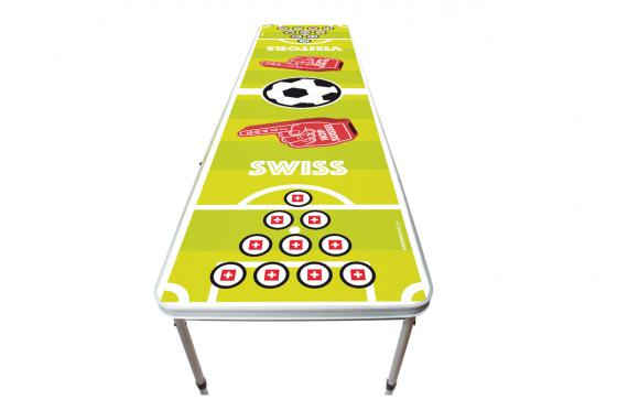 Table de beer pong - Hop Suisse! - 240x60x76 cm