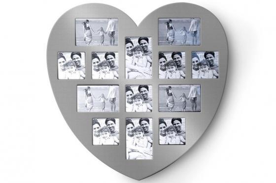 Cadre en forme de coeur - pour 13 photos