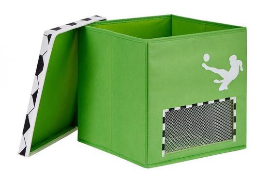 Spielzeugkiste Fussball Klein - 30x30x30cm