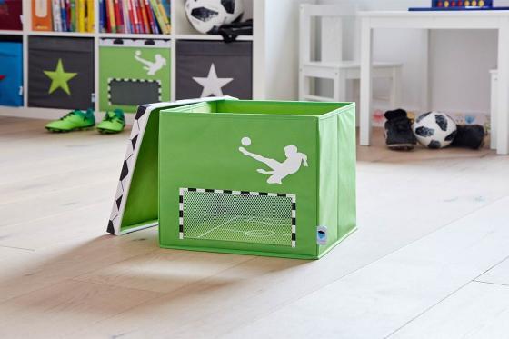 Spielzeugkiste Fussball Klein - 30x30x30cm 2