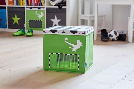 Spielzeugkiste Fussball Klein - 30x30x30cm 3
